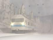 雪の中の419系
