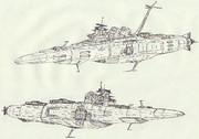 アガノ型主力巡洋艦&クマ型宇宙重雷装艦「自作艦」