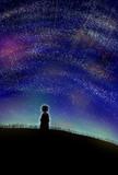 星空を背負う少年