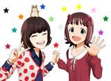 繪里子さんと春香さんとハム蔵