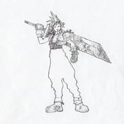 FFVIIのクラウドさんを描いてみた