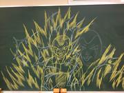 黒板に描いたフリーザ様