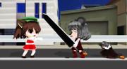 【東方MMD】対決【ダヨー】