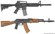 M4A1&AK-74