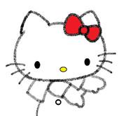 キティ ~お絵かきの途中~