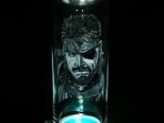 MGSスネーク 手彫りグラス