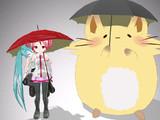 【MMD】雨のバス停