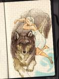 練習オオカミ