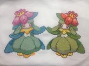 ドレディア姉妹縫ってみた(*´艸`*)