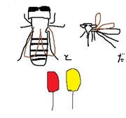 風船と虻と蚊だ