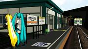 【MMD】ローカル線の駅とか作り中