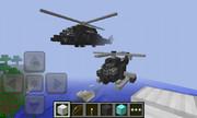 スマホ版マイクラでヘリを作ってみた