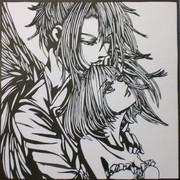 【切り絵】2人の天使@ハンゲーム