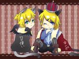 【鏡音レン】(ノ)・ω・(ヾ)trick or treat!(ノ)・ω・(ヾ)【鏡音リン】