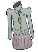 電波教師の制服