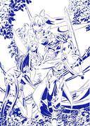 【ソードアート・オンライン】のフェアリィ・ダンス編を切ってみたよ【切り絵】