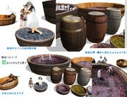 [mmd]樽と葡萄踏み桶