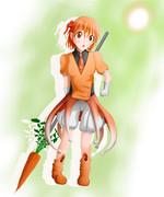 オレンジ色の子
