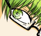 緑の人の目元だけ