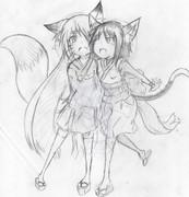 狐と猫でキツネッコ