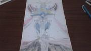 ゴッドガンダムの画像を見て描いてみた