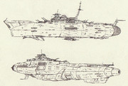宇宙巡洋艦トネ&宇宙航空巡洋艦キエフ「自作艦」