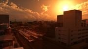 【MMD百景】空色町、ビルに沈む陽