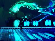 青黒い光車