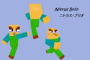【minecratスキン】ニトラス・ブリオさん作ってみた【低クオリティ】