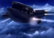 アデス連邦の旧型戦艦(単色)
