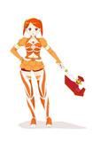 オレンジ色の魔法少女
