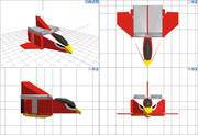 ジェットホークモデル  4面図