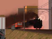 蒸気機関車による貨物列車