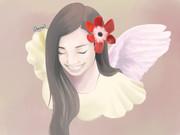 【描いてみた】丘咲アンナさんの似顔絵を描いてみた。【うあばぁ】