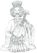 ブルック琵琶法師コスプレ