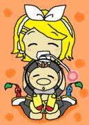 【リクエストの絵】 鏡音リン&オリマー