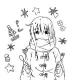 クリスマスまじか・・・今年は誰とすごしますか?線画