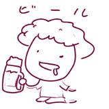 ☂ビールを飲むソラさん☂