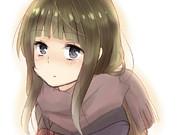 マフラーで女子の髪の毛がもふってなるところ