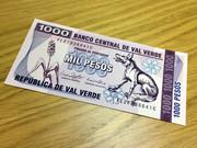 【コマンドー】1000バルベルデペソ紙幣【架空】