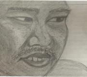 鉛筆書き野獣の眼光