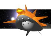 CGの習作(宇宙船? 円盤?)