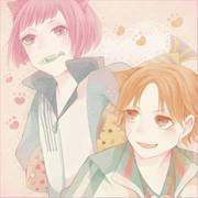 菊猫と岳人猫