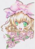 色鉛筆で雛苺ちゃん描いたよ