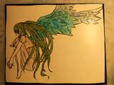 ミクの日線画切って塗ってみた。+ライト当ててみた