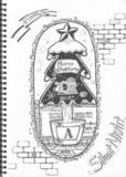 男子高校生が授業中にクリスマスみたいなのを描いたらこーなった