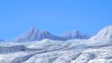 ダイス目によってクレバスに落ちる雪山背景