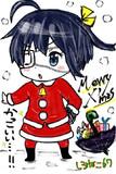 六花ちゃんクリスマス仕様~iPhone指描き~