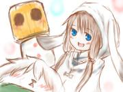 雪ゆかりさん+雪犬さん+かぼちゃ