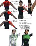 【MMDユーザーモデル】肩ボーン球体関節化実験